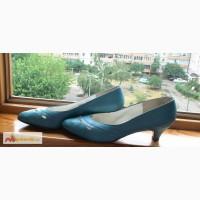 Кожаные бирюзовые туфли р. 24, 5 Венгрия