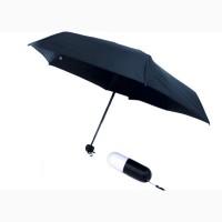 Зонтик-капсула 6752 черный, голубой, Мини-зонт, Зонты антишторм