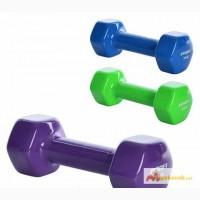 Гантель виниловая для фитнеса Profi M 0291