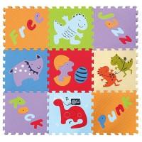 Детский игровой коврик - пазл Развлечения динозавров GB-M1602 Baby Great