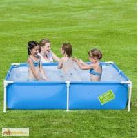 Детский каркасный прямоугольный бассейн Bestway 162х162х35 см