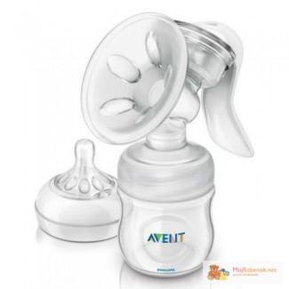 Молокоотсос ручной Avent VIA с контейнерами хранения. Киев доставка