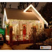 Гирлянда светодиодная дождь занавес купить 2х3 метра , гирлянды + для украшения дома .