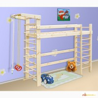 Спортивная кровать-чердак из сосны