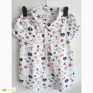 Летние рубашки девочек с коротким рукавом и детские платья