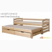Кровать детская с дополнительным спальным местом и Ящиками