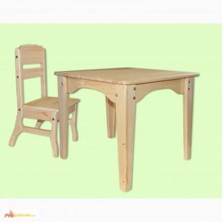 Комплект мебели детский - столик + стульчик из сосны