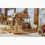 Механический-Деревянный 3D Конструктор - Рельсы с переездом