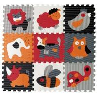 Детский игровой коврик - пазл Веселый зоопарк GB-M129A4 Baby Great