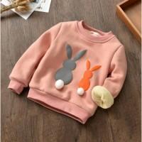 Кофта детская утепленная Bunny розовая