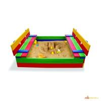 Песочница для детей, деревянные песочницы Pes- 11