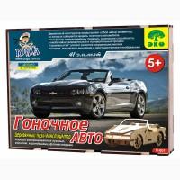 Гоночное авто 3д пазлы-конструктор из дерева в коробке лазерная резка