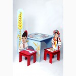 Яркие наборы детской мебели (стульчики, столики)