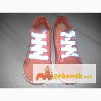 Оранжевые замшевые ботинки для модника или для модницы, р.22