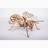 Пчела 3д пазлы-конструктор из дерева в коробке лазерная резка собственное производство