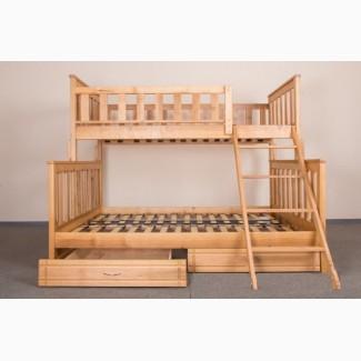 Детская двухъярусная кровать Фиона из натурального дерева