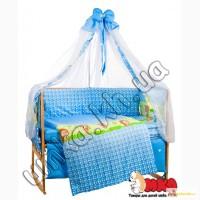 Лесные звери голубой комплект детского постельного белья bepino