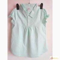 Летние рубашки на девочек с коротким рукавом