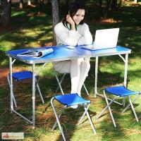 Набор мебели для пикника WELFULL-FTS1-4, раскладной стол и 4 стула