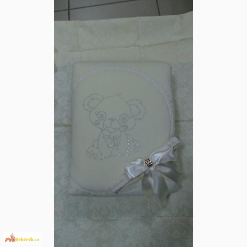Фото 3. Велюровый конверт на махре для выписки из роддома