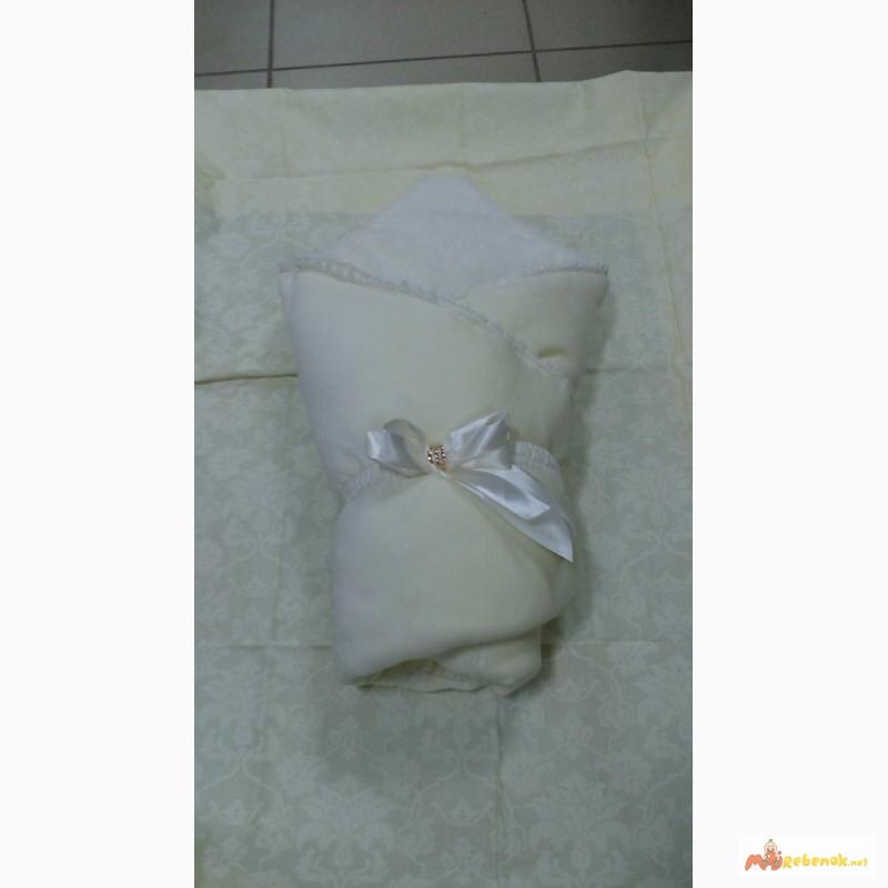 Фото 4. Велюровый конверт на махре для выписки из роддома