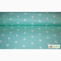 Детское постельное Звезды на мятном