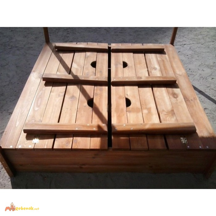 Фото 3. Детская песочница с крышкой, песочницы для детей, песочница деревянная(Pes-4)