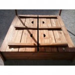 Детская песочница с крышкой, песочницы для детей, песочница деревянная(Pes-4)