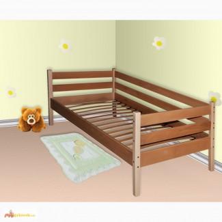 Одноярусная кровать Комфорт из бука