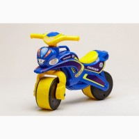 Беговел Active Baby Police музыкальный Сине-желтый, Детские велосипеды
