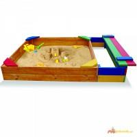 Песочница для детей, деревянные песочницы для дачи (pes 6)