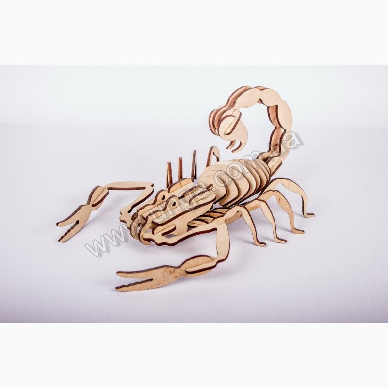 Фото 2. Скорпион 3д пазлы-конструктор из дерева в коробке лазерная резка собственное производство