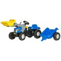 Трактор педальный с прицепом и ковшом Rolly Toys Kid 23929