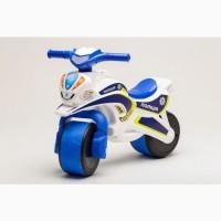 Беговел Active Baby Police бело-синий, сине-желтый, Детские велосипеды