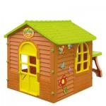 Детский игровой домик Лесной коричневый +столик+стулик