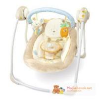 В НАЛИЧИИ, Новые качели Bright Starts Cotton Tale Portable Swing (США)