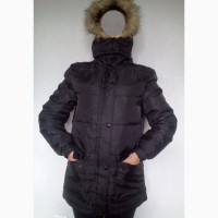 Куртка-пуховик женская тёплая с капюшоном 44-46р