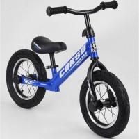 Беговел Corso 55408, 12 синий, Детские велосипеды
