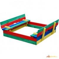 Детская разноцветная песочница Дружок-2