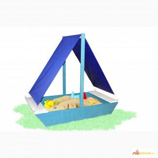 Детская песочница Лодочка цветная