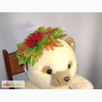 Осенний обруч для утренника с листочками, ягодами