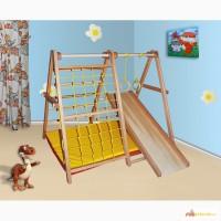 Детский спортивно-игровой комплекс Динозаврик из бука, спортивный уголок