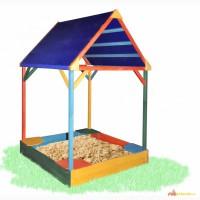 Песочница с тентовой крышей цветная 150х150см