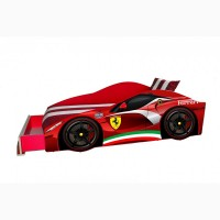 Кровать машина Ferrari с матрасом, спойлером и подушкой EliteБЕСПЛАТНО доставка по Украине