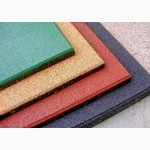 Резиновое покрытие для детских площадок, резиновая плитка 500 х500 мм