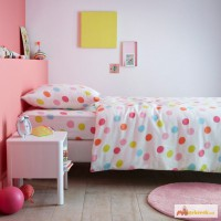 Наборы постельного белья для новорожденных, Цветные горошки