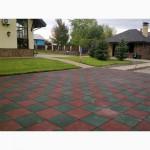 Резиновая плитка для площадок, резиновое покрытие +для улицы