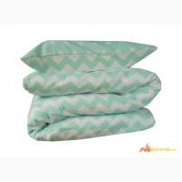 Красивое постельное белье для новорожденных, Мятные зигзаги