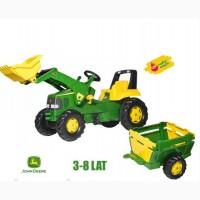 Педальный трактор Rolly Toys с прицепом и ковшом Junior John Deere 811496