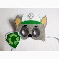 Маски щенячий патруль со значком
